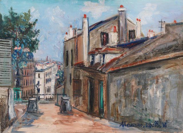Maurice Utrillo (1883-1955) La maison de Mimi Pinson à Montmartre (Painted circa 1948)