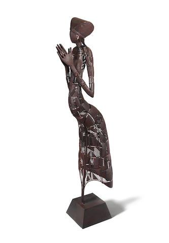 Fidelis Odogwu Eze (Nigerian, born 1970) Prayer Mode 202 x 44.5 x 68cm (79 1/2 x 17 1/2 x 26 3/4in).