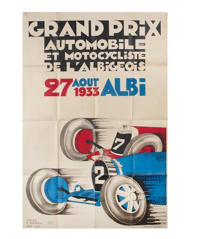 Deux affiches du Grand Prix d'Albi de 1933 et 1934,  ((2))
