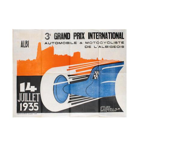Trois affiches du Grand Prix d'Albi de 1935, 1936 et 1937,  ((3))