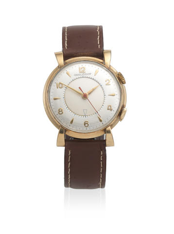 Jaeger-LeCoultre. A gold plated manual wind alarm wristwatch  Memovox, Circa 1955
