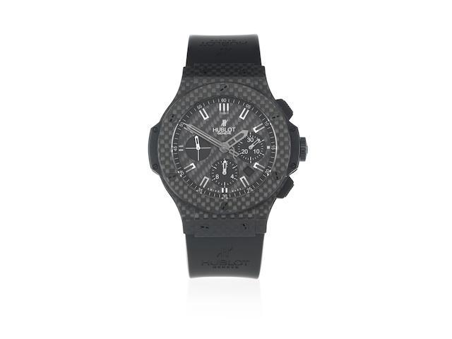 Hublot. A black titanium automatic calendar chronograph wristwatch  Big Bang, Circa 2010