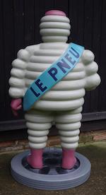 « Mr Bibendum » Figure publicitaire d'accueil peinte à la main,
