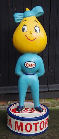 « Mme Drip » Esso figure publicitaire d'accueil peinte à la main,
