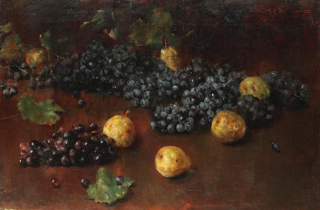 Luigi Serralunga (Italian, 1880-1940) Still lives of fruit; a pair  54 x 80.7cm (21 1/4 x 31 3/4in)(2).
