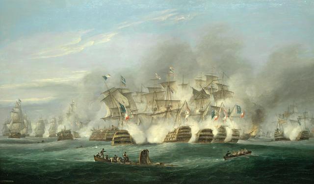 Thomas Luny (British, 1759-1837) The Battle of Trafalgar