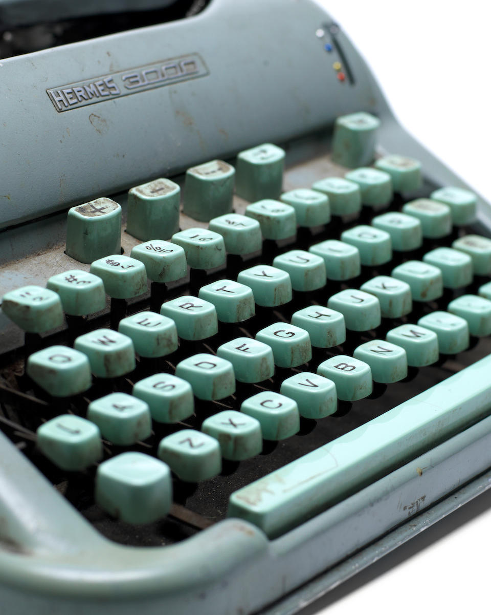 PLATH (SYLVIA) Sylvia Plath's Hermes 3000 typewriter, with serial number 3001432, approximately 310 x 330 x 175mm., [1959]