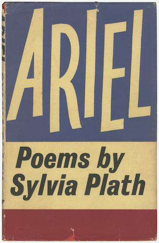 "PLATH (SYLVIA) Ariel, FIRST EDITION, INSCRIBED BY TED HUGHES ""To Michael with my very best wishes from Ted, Christmas 1965"" on front free endpaper, Faber and Faber, 1965"