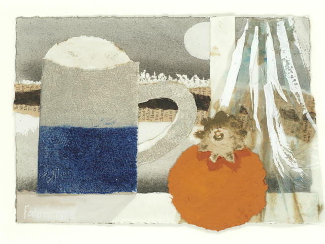 Mary Fedden R.A. (British, 1915-2012) Mug and Persimmon
