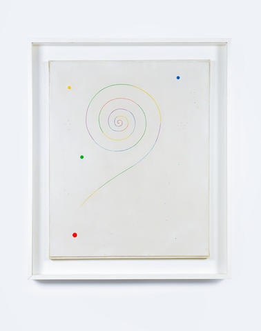 Georges Vantongerloo (1886-1965) Spirale avec certaines taches (Painted in Paris in 1946)