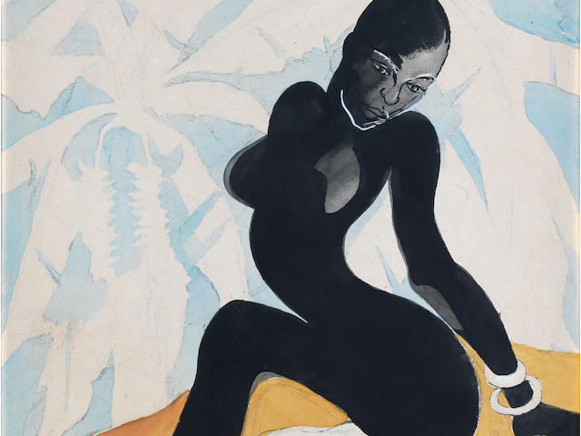 Benedict Chukwukadibia Enwonwu M.B.E (Nigerian, 1917-1994) The Female Form