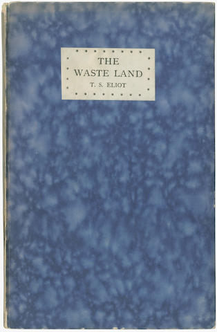 ELIOT (T.S.) The Waste Land, FIRST ENGLISH EDITION, Richmond, Printed and Published by Leonard and Virginia Woolf at the Hogarth Press, 1923