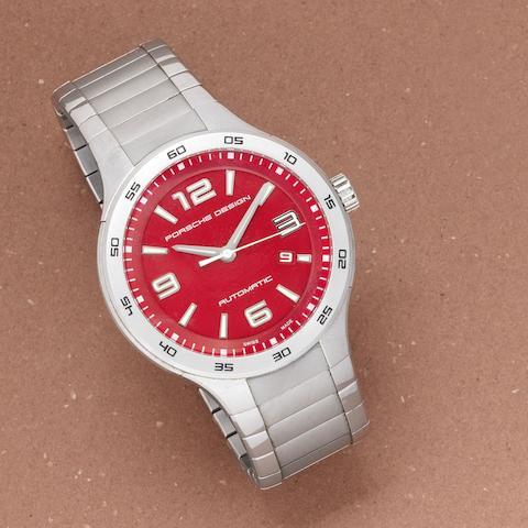 Porsche Design. A stainless steel automatic calendar bracelet watch Ref: P6310, Sold 1st March 2007