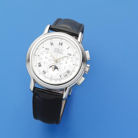 Zenith. A stainless steel automatic calendar chronograph wristwatch  El Primero ChronoMaster, Ref: 14/01.0240.410, Sold 24th January 1997