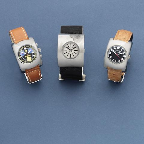 A group of three rare and unusual driver's watches