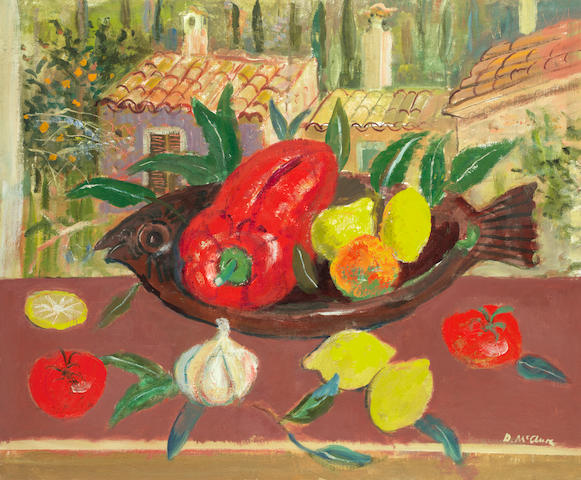 David McClure RSA RSW RGI (British, 1926-1998) Still life with fruit and vegetables