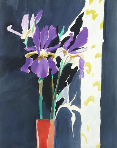 Donald Hamilton Fraser RA (British, 1929-2009) 'Irises'