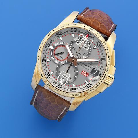 Chopard. An 18K gold automatic calendar chronograph wristwatch  Mille Miglia GT XL, Ref: 16/1268, No.212/500, 2007