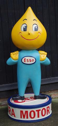 « Mr Drip » Esso figure publicitaire d'accueil peinte à la main