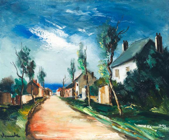 Maurice de Vlaminck (1876-1958) Rue de village (Painted circa 1920 - 1924)