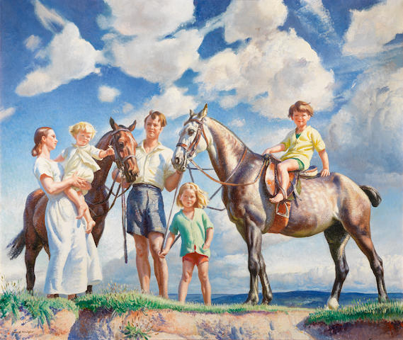 Dame Laura Knight, RA, RWS (British, 1877-1970) A Seaside Holiday