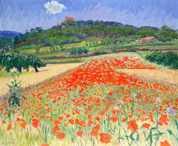 Frederick Gore CBE RA (British, 1913-2009) Poppy fields