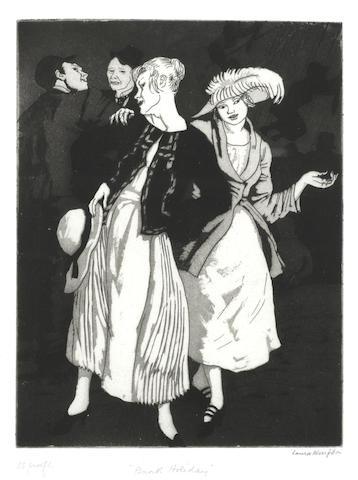 Dame Laura Knight, RA, RWS (British, 1877-1970) 'Bank holiday' (PL)