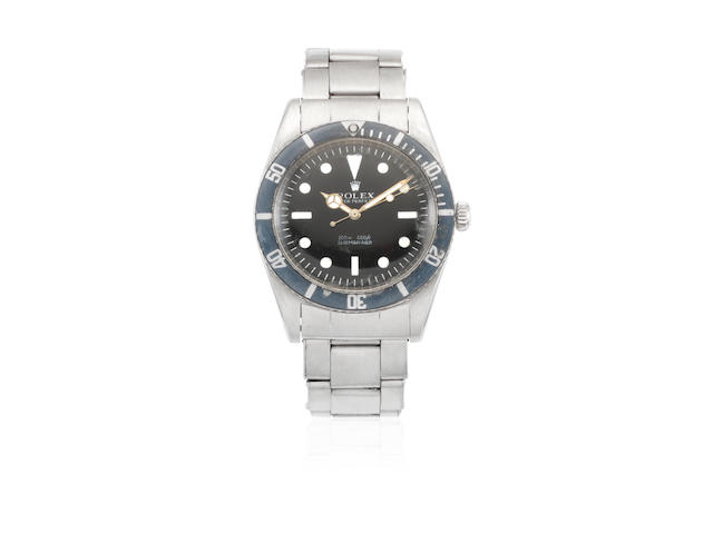Rolex. A stainless steel automatic bracelet watch  Submariner, Ref: 5508, Circa 1959