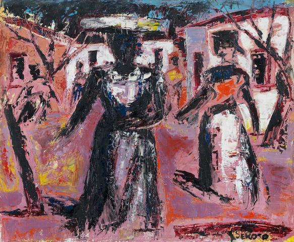 Gerard Sekoto (South African, 1913-1993) A township street