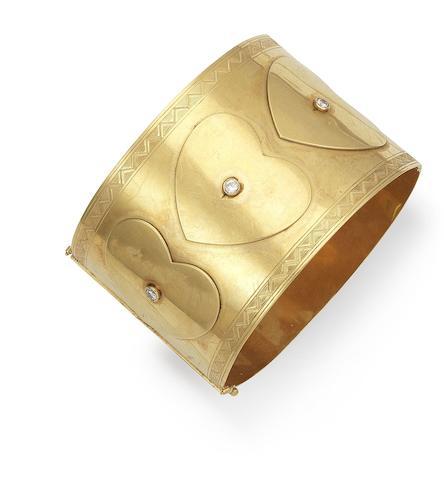 A diamond cuff