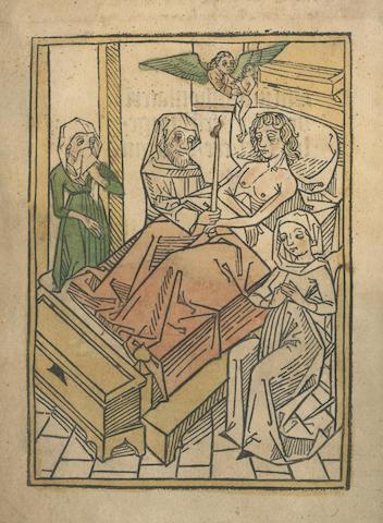 VERSEHUNG VON LEIB Versehung von Leib, Seele, Ehre und Gut, [colophon:] Augsurg, Johann Schönsperger, 1493