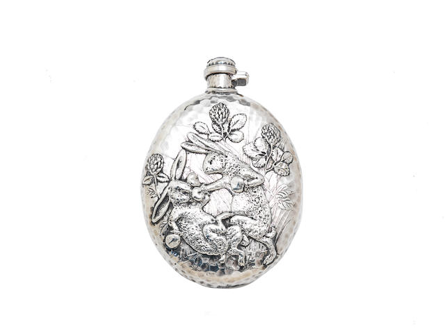 An American silver hip flask by Tiffany & Co, Edward Moore period, New York circa 1876, with pattern/order number 4401/5423
