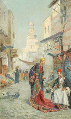 Antonio María de Reyna Manescau (Spanish, 1859-1937) Arab dealers
