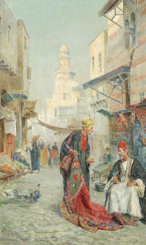 Antonio María de Reyna Manescau (Spanish, 1859-1937) Arab dealers