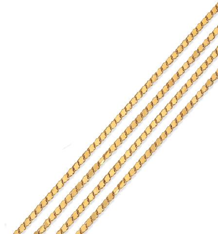 A fancy-link chain