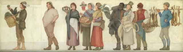 Edwin Buckman (British, 1841-1930) London street criers
