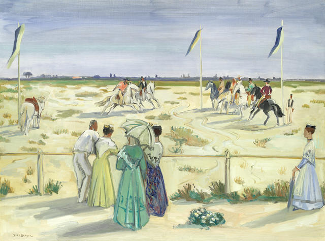 Yves Brayer (French, 1907-1990) 'Jeux de Gardians' (painted in 1956)