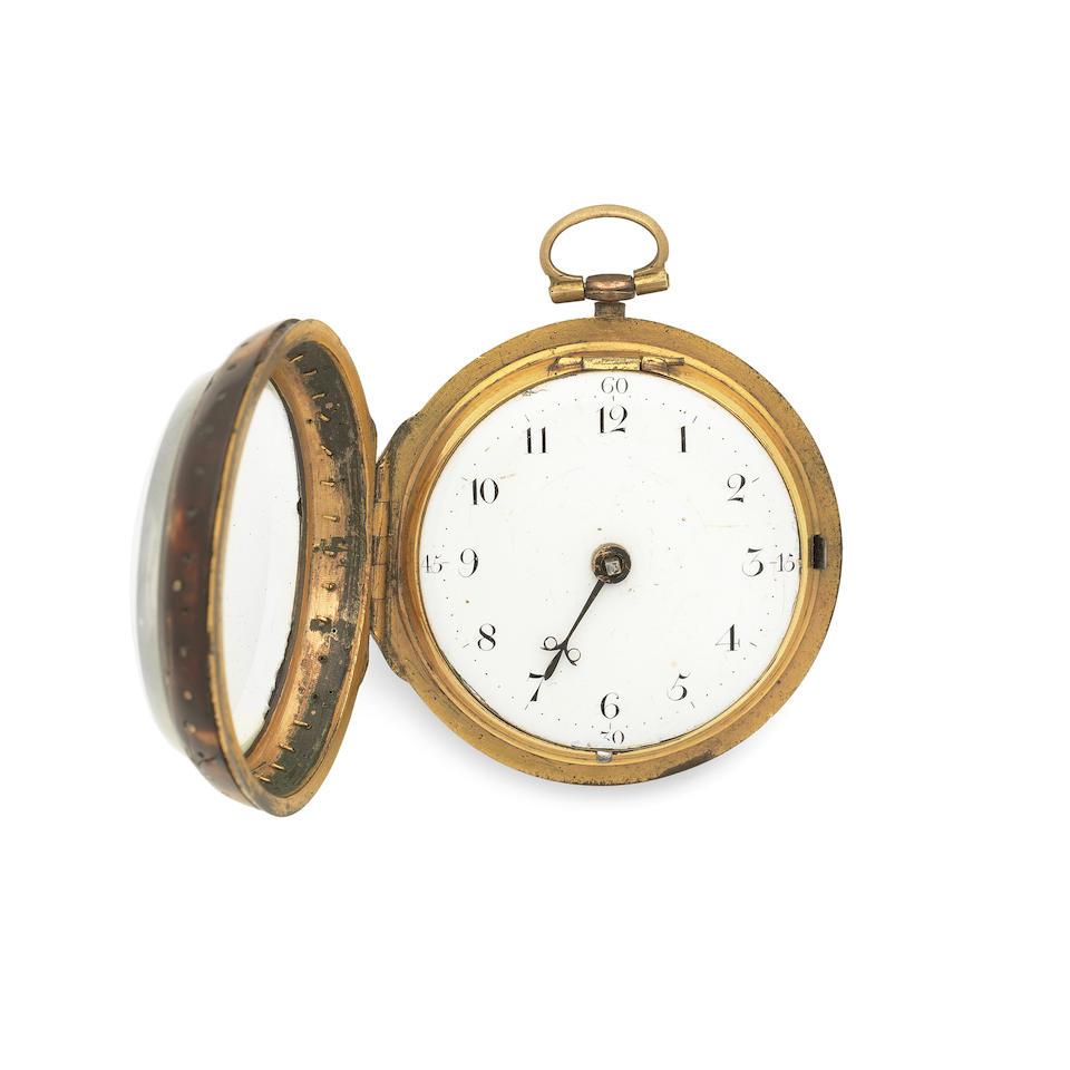 Thomas Tompion, London. A gilt metal, pique and tortoiseshell consular case pocket watch Circa 1695