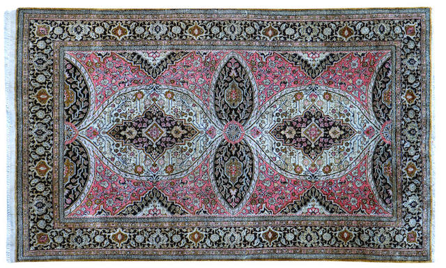 A persian part silk rug