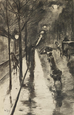 LESSER URY (1861-1931) Bellevuestraße am Abend, Berlin (Executed in Berlin on 24 October 1922)