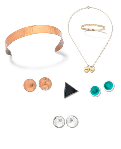 PLATH (SYLVIA) A small group of jewellery belonging to Plath, [1950s/early 60s] (small group)