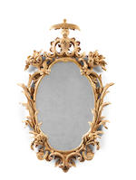 A pair of carved giltwood mirrors in the George II Rococo style (2)