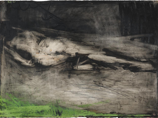 Frank Auerbach (British, born 1931) Reclining Model, Back View 1960-1961