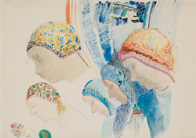 Odilon Redon (1840-1916) Profils de Hollandaises