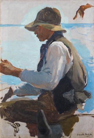 Joaquin Sorolla y Bastida (Spanish, 1863-1923) Study for La vuelta de la pesca