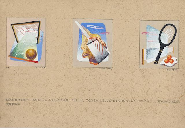 Mino Delle Site (1914-1996), Giuramento dell'atleta + Decorazioni per la palestra della 'Casa dello studente', Roma