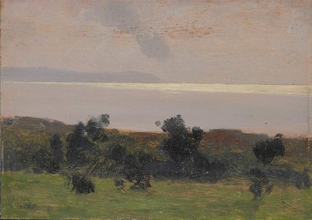 Giuseppe de Nittis (Italian 1846-1884) Marina con cespugli (Painted circa 1868-1869 )