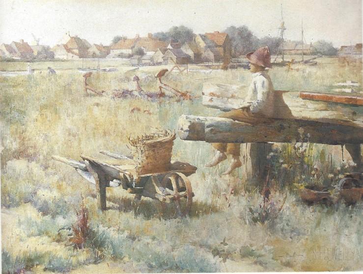 Sir William Samuel Henry Llewellyn, PRA, RBA, RI (British, 1858-1941) Summer-time near the Sea