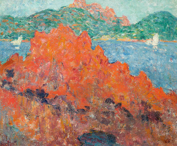Louis Valtat (1869-1952) Les rochers rouges à Agay (Painted circa 1898)