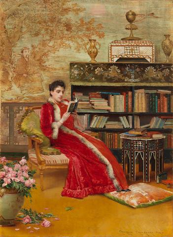 Georges Croegaert (Belgian, 1848-1923) A good read